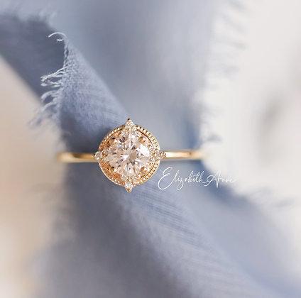 Elaine Diamond Halo Engagement Ring