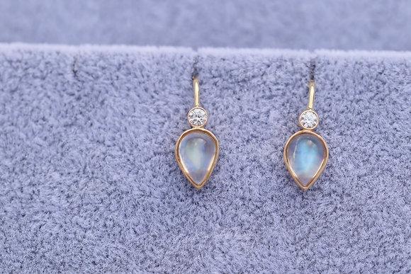 Arabella Moonstone and Diamond Earrings