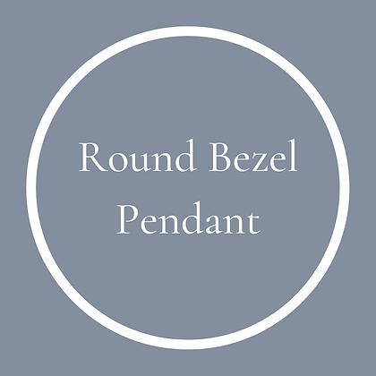 Round Bezel Pendant