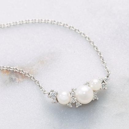 Louisa Diamond & Pearl Necklace