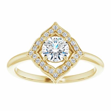 Beth Halo Engagement Ring