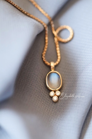 Nicole Moonstone & Diamond Pendant