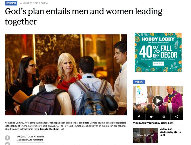 God's plan entails men and women leading together