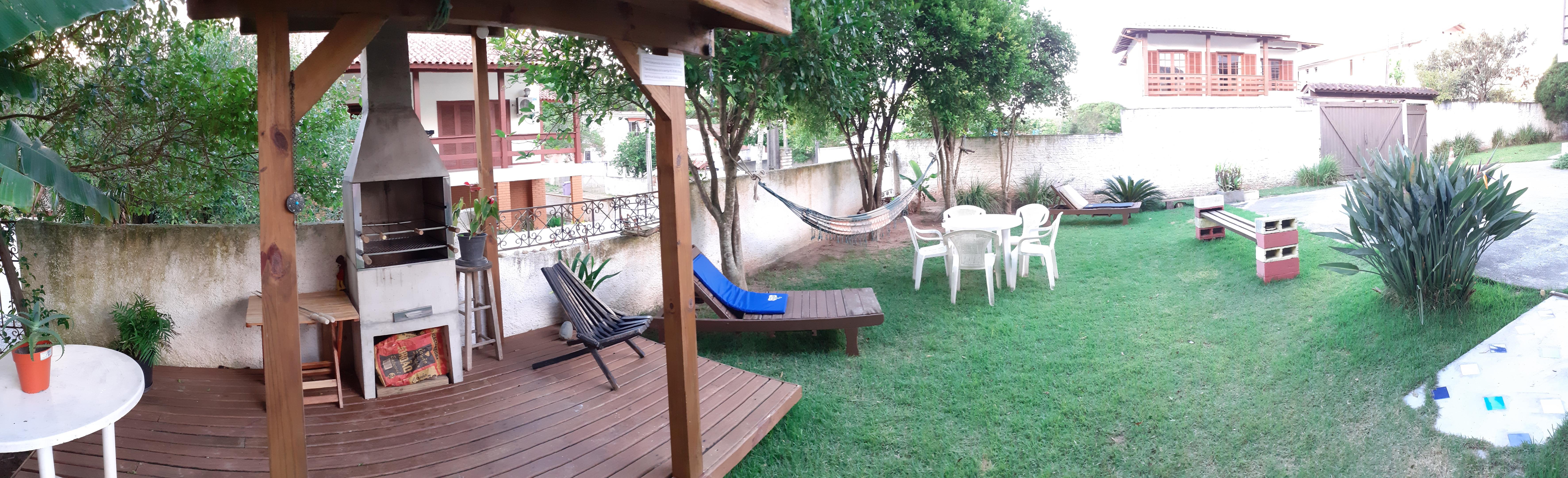 Foto 360º jardim, área social.