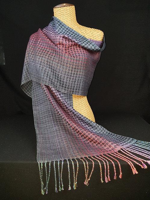 Tumbling blocks silk scarf