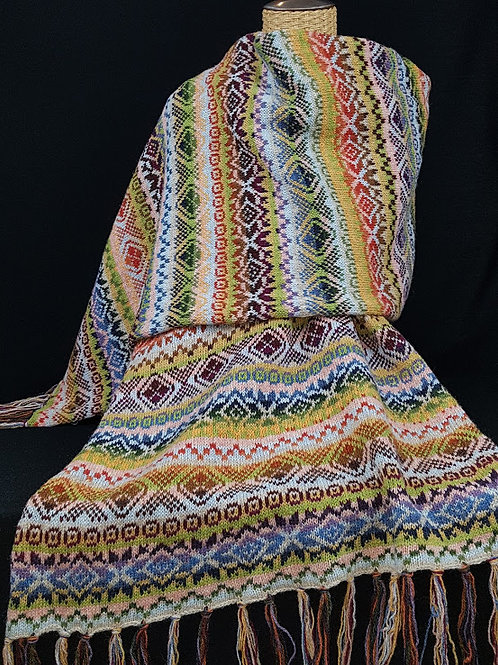 Summer : Fairisle Shawl