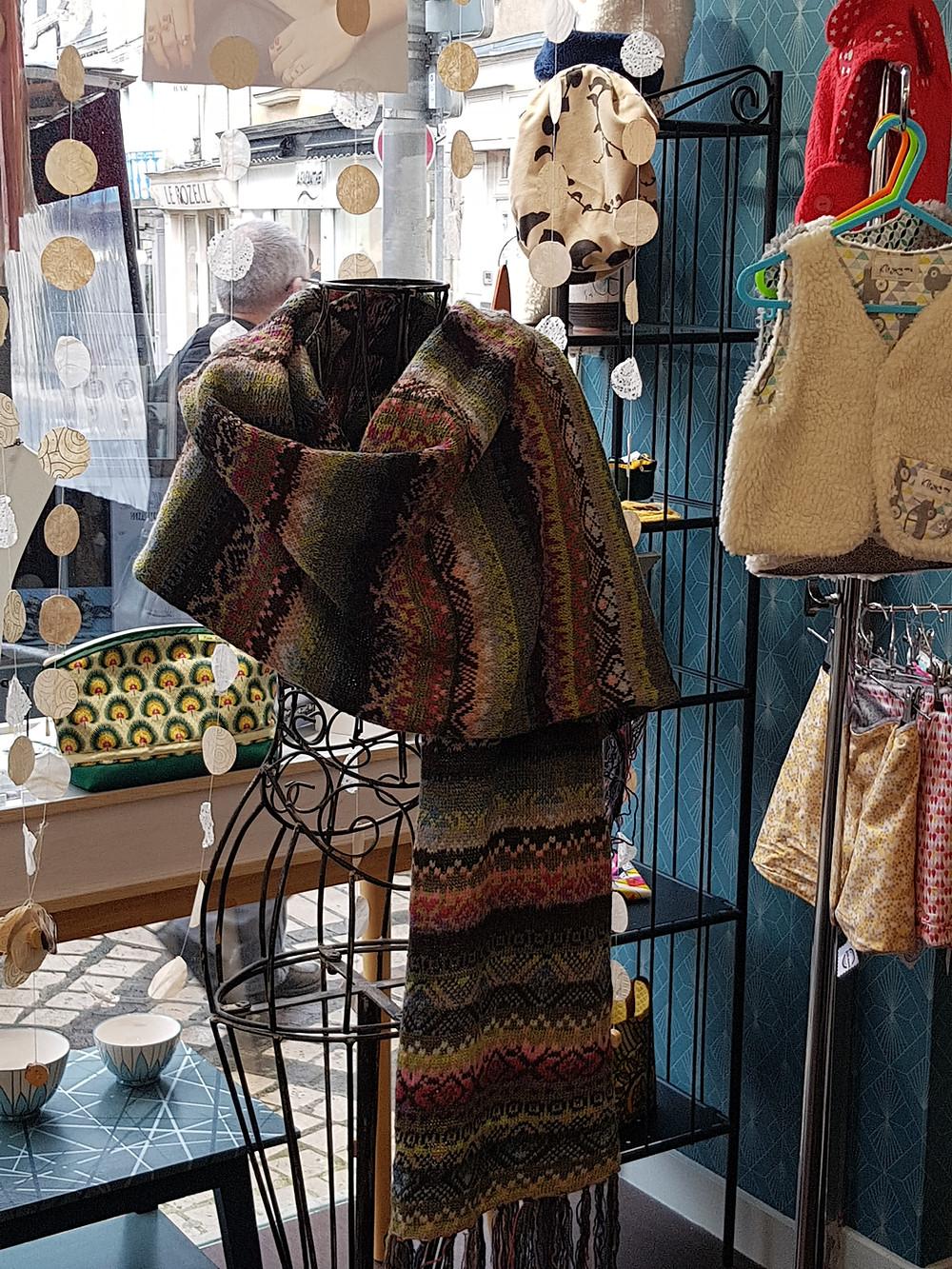 Fair isle shawl, chateau goutier, autumn