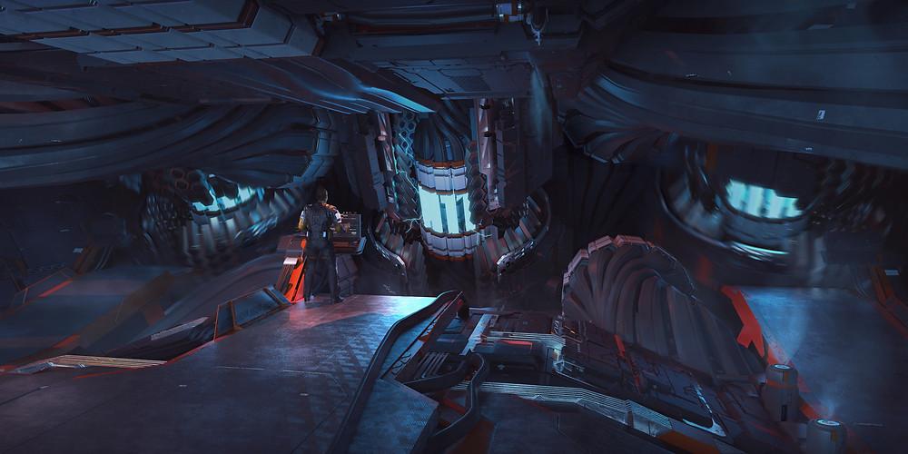 Pioneer reactor engine room - Star Citizen spaceship industrial design