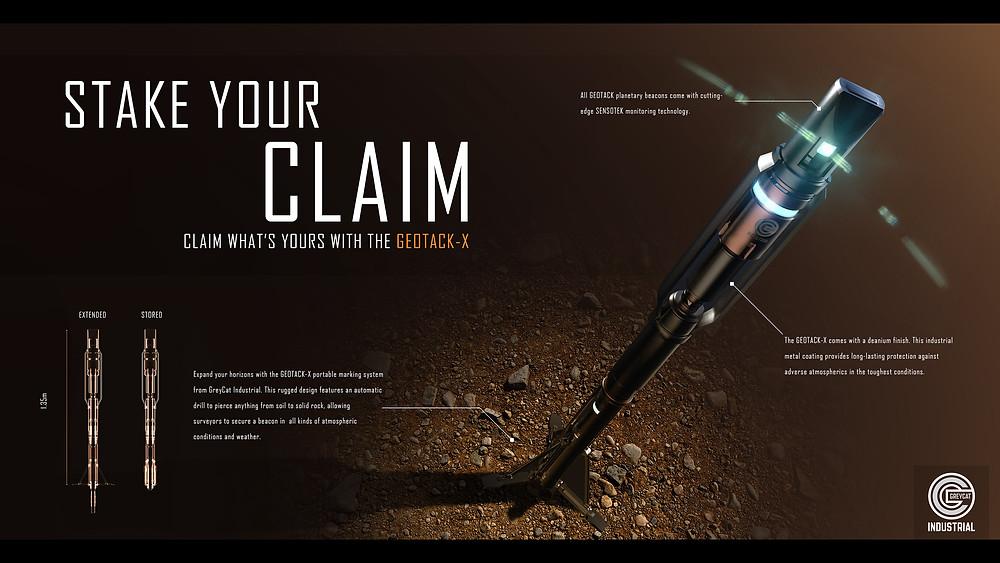 Star Citizen Pioneer Land Claim information - Land claim beacon Geotack-x