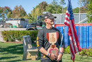 Purple Heart Plaque given to Gold Star Father of Marine Cpl. Nicholas Xiarhos