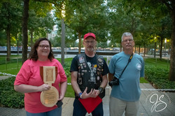 Gold Star Family Lynn and John Patton, service plaque presented in Memory of their  Son Sg