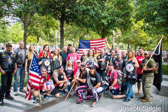 Ground Zero with the Eagle Riders Motorcycle Group