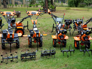 Range of Tillers and some of their accessories. From R8999 incl to R22999 Incl including machine, wh