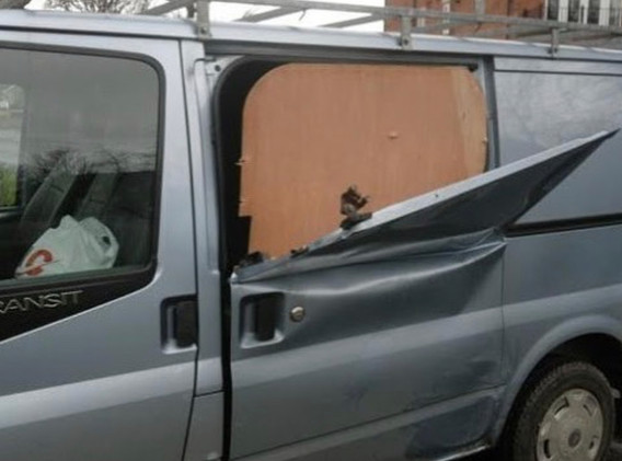 Current vehicle damage caused by peeling down