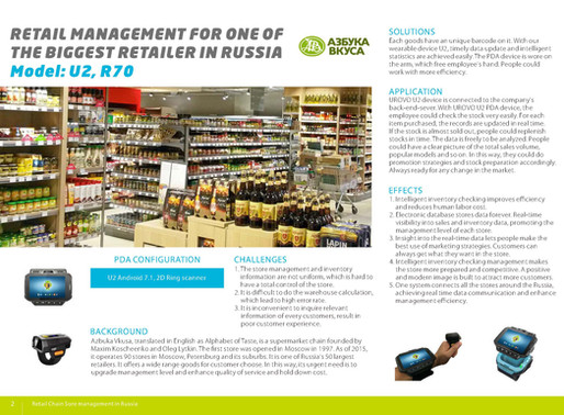 Retail Management for one of the biggest retailers in Russia