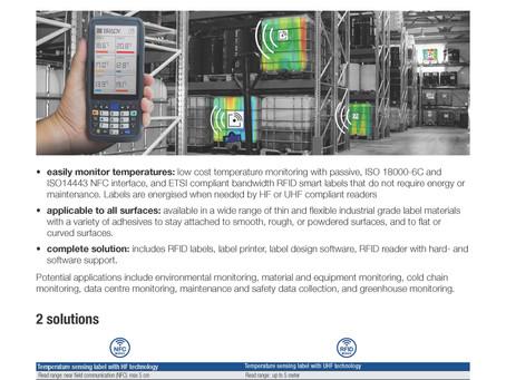 Easily monitor temperatures RFID Temperature Labels