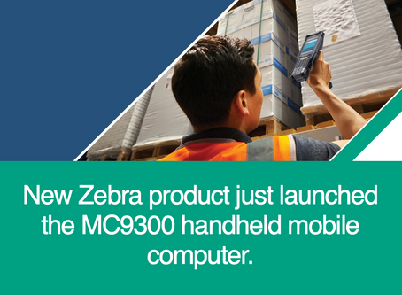 New Zebra product just launched the MC9300 handheld mobile computer.