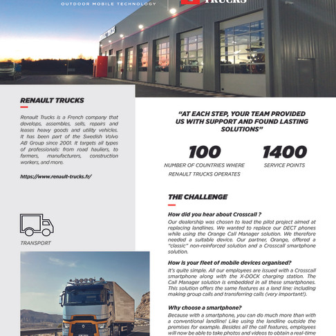 Crosscall Renault Trucks Case Study
