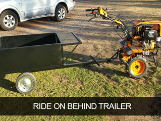 12hp Diesel with ride on trailer.... So easy to cart stuff around