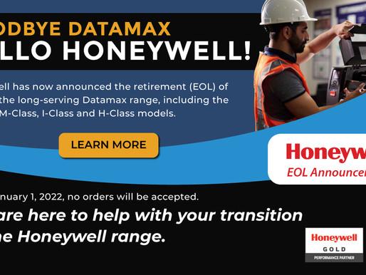 Goodbye Datamax, Hello Honeywell!