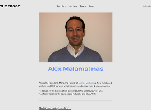 Investing in the Future of Health / Melitas Ventures Founder