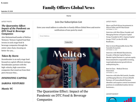 Family Offices Global News / The Quarantine Effect