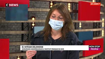 Myriam DELOMÉNIE del'Institut Français du Sein explique qu'il ne faut pas retarder le traitement même en période COVID