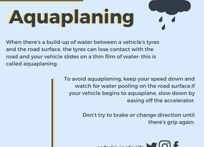 Aquaplaning - safe driving for life