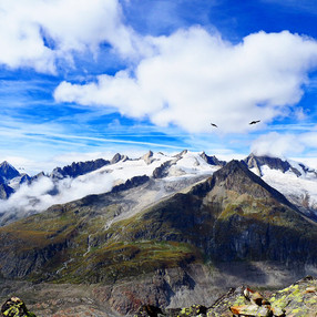 View from Bettmerhorn, Switzerland 2018