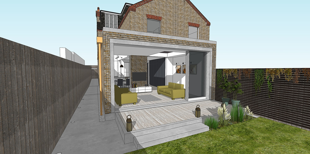 House extension in North London