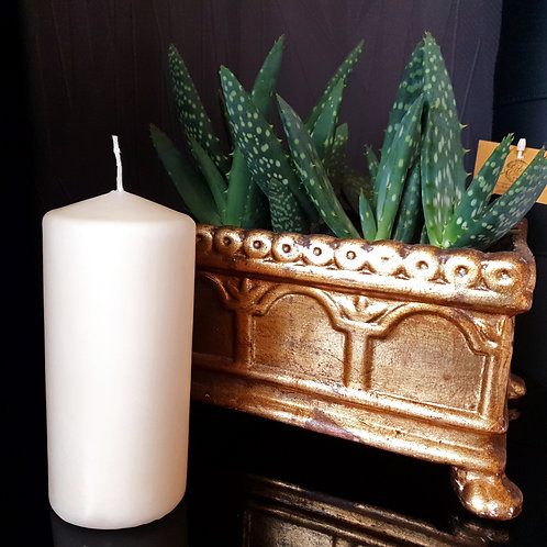 Ivory Pillar Candle 77 hours