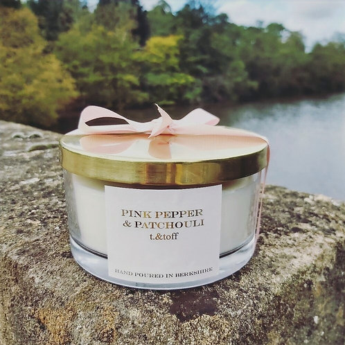 №1: Pink Pepper + Patchouli 3 Wick Candle
