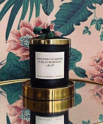 №3  Smoked Bamboo + Blackberry Candle 1b