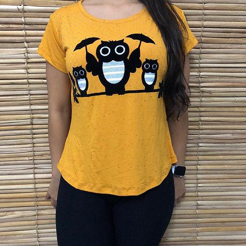 T-Shirt Família de Coruja - 57