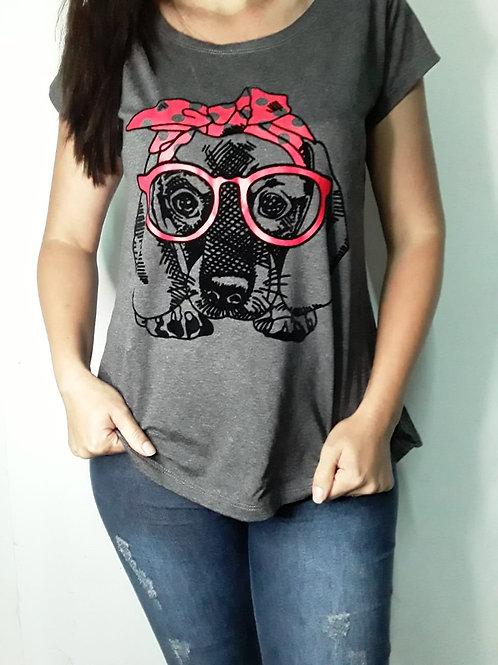T - shirt Cachorro laço - 342