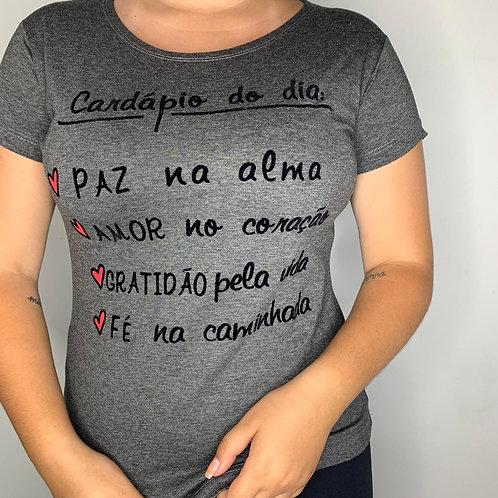 T-Shirt Cardápio do Dia - 252