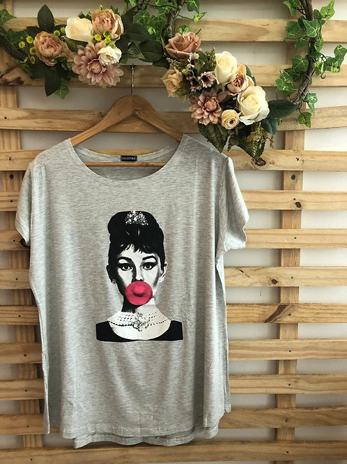 T - Shirt Mulher chiclete - 313