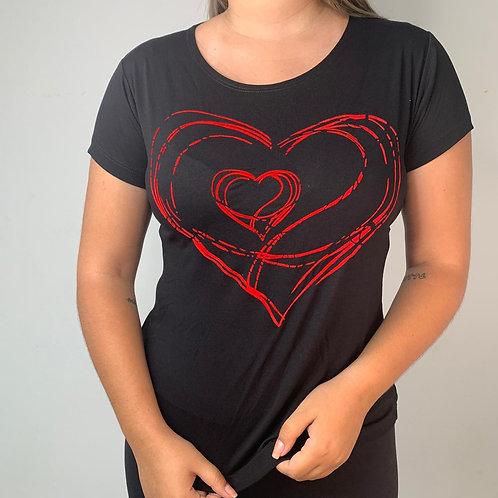 T-Shirt Coração - 175