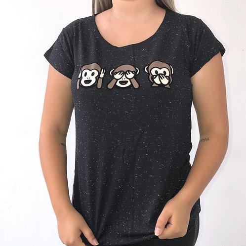 T-Shirt Três Macaquinhos - 305
