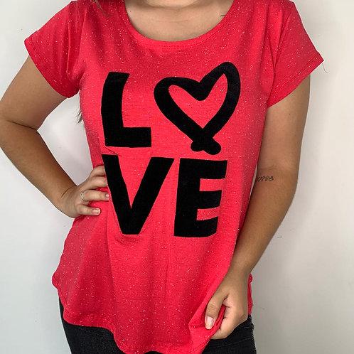 T-Shirt Love Coração - 301