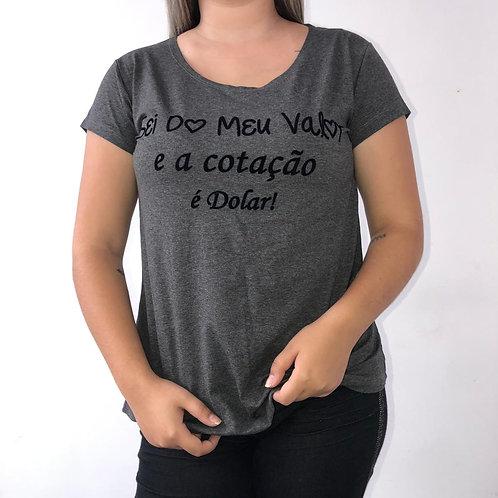 T-Shirt - A cotação é Dolar - 240