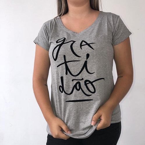 T-Shirt Gra-ti-dão - 146