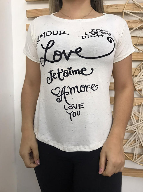 T- Shirt- amour -195