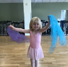 Our little star Nancy in our Baby ballet class