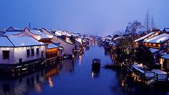 Beautiful town Xishan in Wuzhen Zhejiang