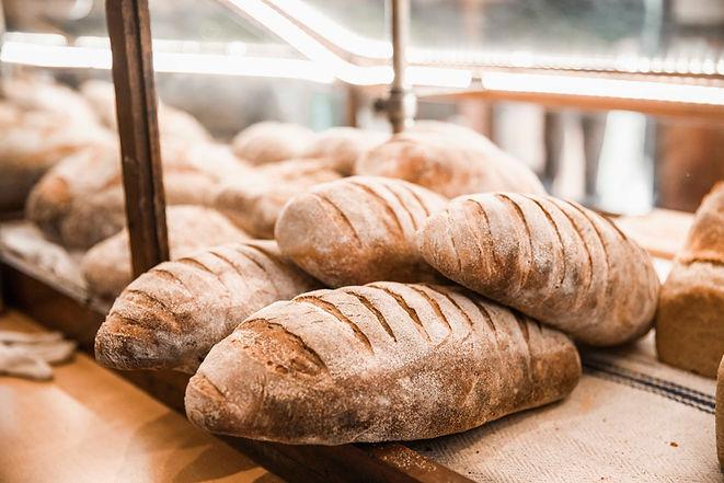 organic sourdough bread loaf