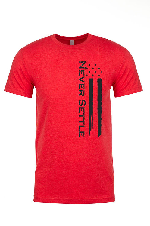 Red/Black Never Settle Flag