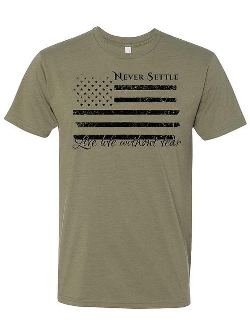 LLWF Green/Black Flag Shirt