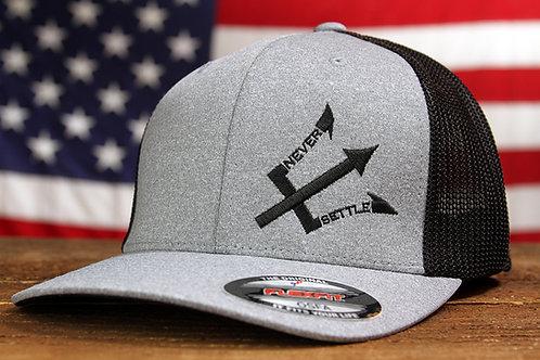 Grey/Black NS Logo Trucker Flex Fit