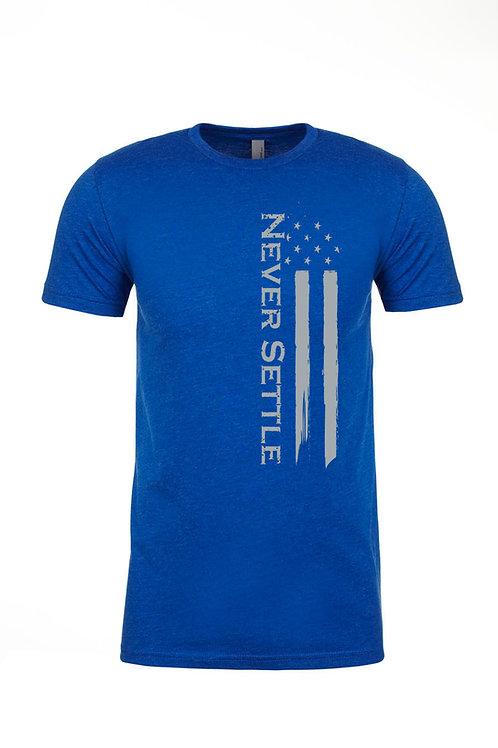 Blue/Grey Never Settle Flag